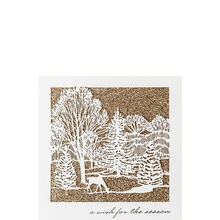 Deer in Forest Holiday Business Hallmark Card
