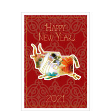 Chinese New Year Card (Year of the Ox) for Business