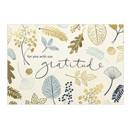 Gratitude and Leaves Appreciation Card for Business