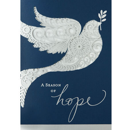 Laser die cut dove holiday cards hallmark business connections images reheart