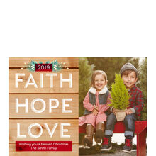 Rustic Faith, Hope, Love 2019 Hallmark Holiday Photo Card