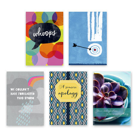 Assorted Apology and Winback Cards for Business, 25 Pack