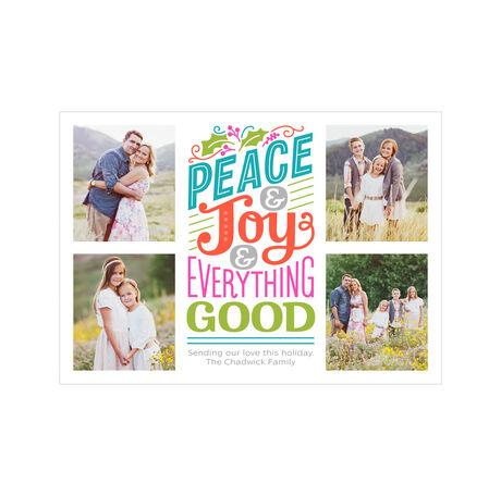 Peace, Joy, Everything Good Hallmark Holiday Photo Collage Card