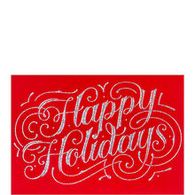Glittering Happy Holidays Business Hallmark Card