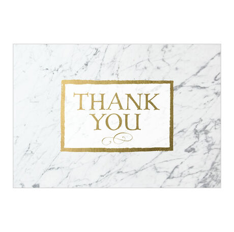 Thank You Cards Marble Pattern Thanks