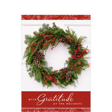 Gratitude Wreath Holiday Business Hallmark Card