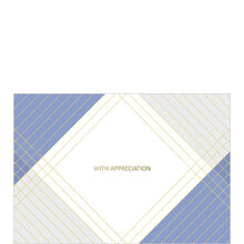 Blue, Gold and Gray Appreciation Business Hallmark Card