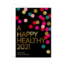 Customizable New Year Card (Happy Healthy 2021) for Business