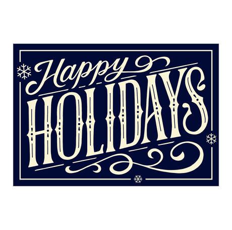 Happy Holidays on Navy Business Hallmark Card