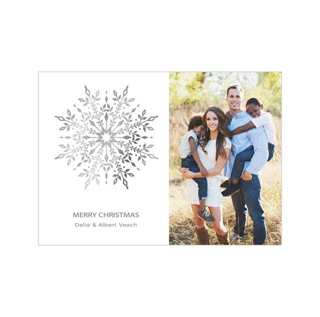 Gilded Snowflake Business Holiday Photo Card