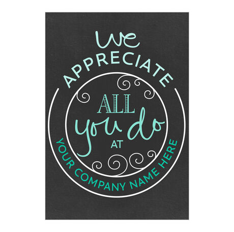All You Do Personalized Cover Employee Appreciation Card