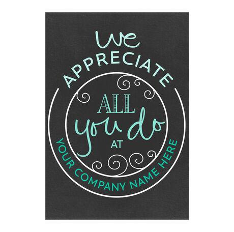 All You Do Custom Cover Employee Appreciation Card