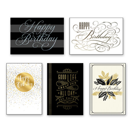 Assorted Elegant Birthday Cards for Business, 25 Pack