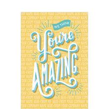 You're Amazing Custom Cover Customer Appreciation Card