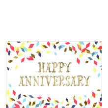 Colorful Confetti Anniversary Business Hallmark Card