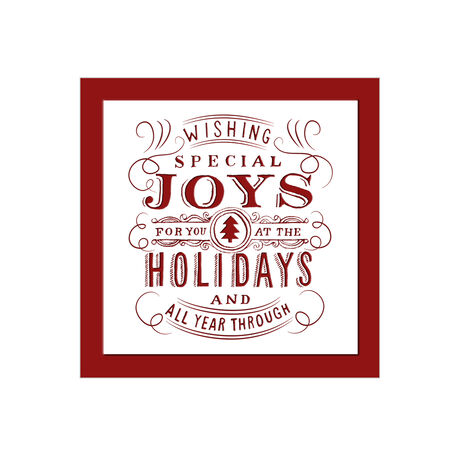 Holiday Joys Red and White Business Hallmark Card