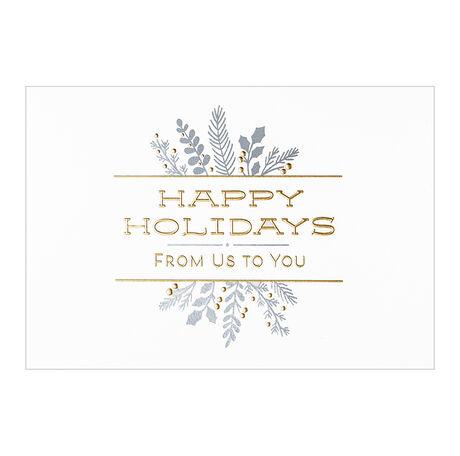 Happy Holidays from Us Business Hallmark Card