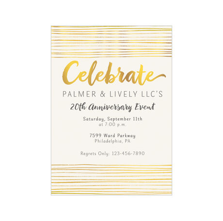 Shining Celebration Design Your Own Business Invitation