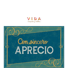 Sincere Appreciation Spanish Business Hallmark Card
