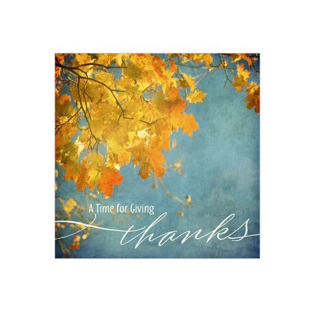 Thanksgiving Fall Leaves Business Hallmark Card