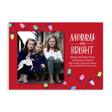 Photo Holiday Card (Merry & Bright Lights) for Business