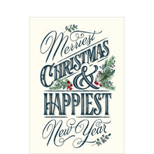 Christmas & New Year Card (Merriest, Happiest) for Business