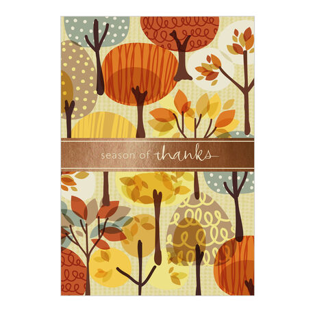 Autumn Illustration Business Thanksgiving Card