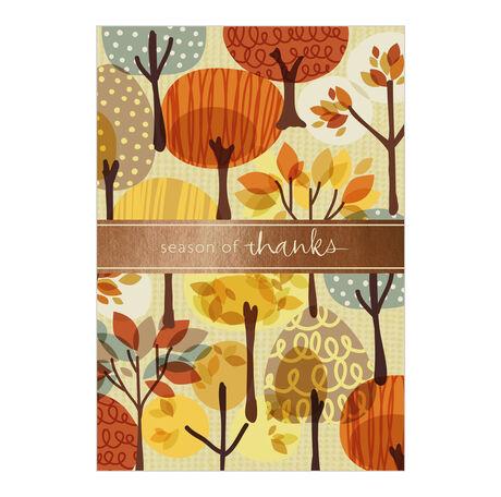 Business thanksgiving cards autumn illustration hallmark autumn illustration business thanksgiving card colourmoves