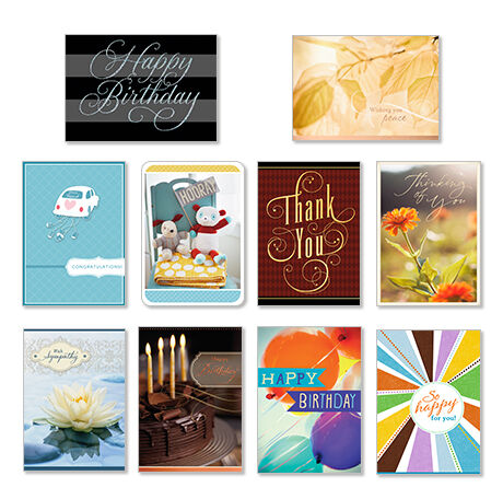 Fifty assorted greeting cards hallmark business connections assorted cards for business all occasions 50 pack reheart Gallery