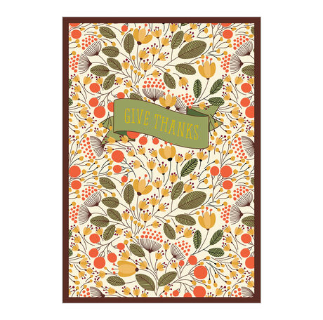 Give Thanks Fall Botanical Business Hallmark Card