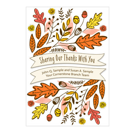 Sharing Thanks Custom Cover Business Thanksgiving Card
