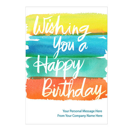 Birthday Watercolor Personalized Cover Hallmark Card