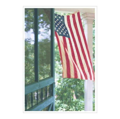 Flag on Porch Patriotic Business Hallmark Card