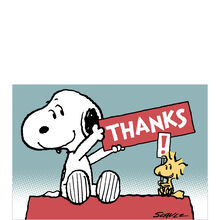 Peanuts® Thank You Card (Snoopy & Woodstock) for Business
