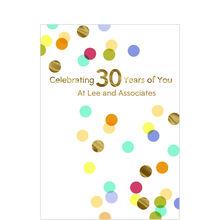 30th Work Anniversary Confetti Design Your Own Hallmark Card