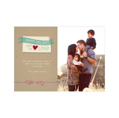 Happy Holidays from Kansas Heartland Hallmark Photo Card