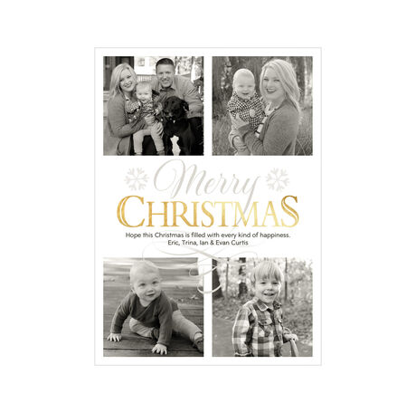 Shimmering Christmas Photo Collage Hallmark Card