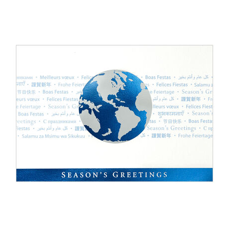 Multi language greetings and globe holiday cards hallmark business multi language greeting reheart Images