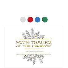 Brilliant Holiday Thanks Design Your Own Business Hallmark Card