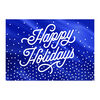 Shining Blue Happy Holidays Business Hallmark Card