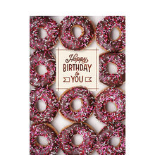 Chocolate Birthday Donuts Business Hallmark Card