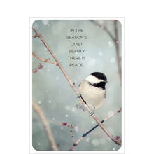 Beauty of Birds Holiday Business Hallmark Card