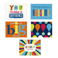 Assorted Employee Appreciation Blank Notecards (Vibrant Recognition), 50 Pack
