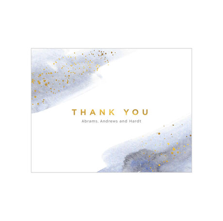 Watercolor Thank You Business Hallmark Note Card