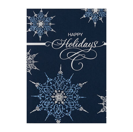 Elegant Snowflakes Holiday Cards For Business Hallmark Business