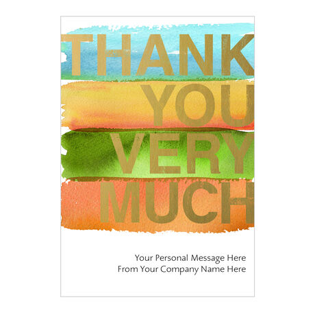 Painted Thanks Personalized Cover Business Hallmark Card