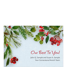 Holiday Best Personalized Cover Business Hallmark Card