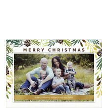 Pine Garland Christmas Photo Card