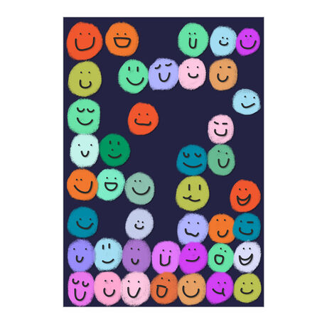 Colorful Smiley Faces Business Hallmark Card