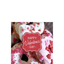 Valentine's Day Donuts Business Hallmark Card